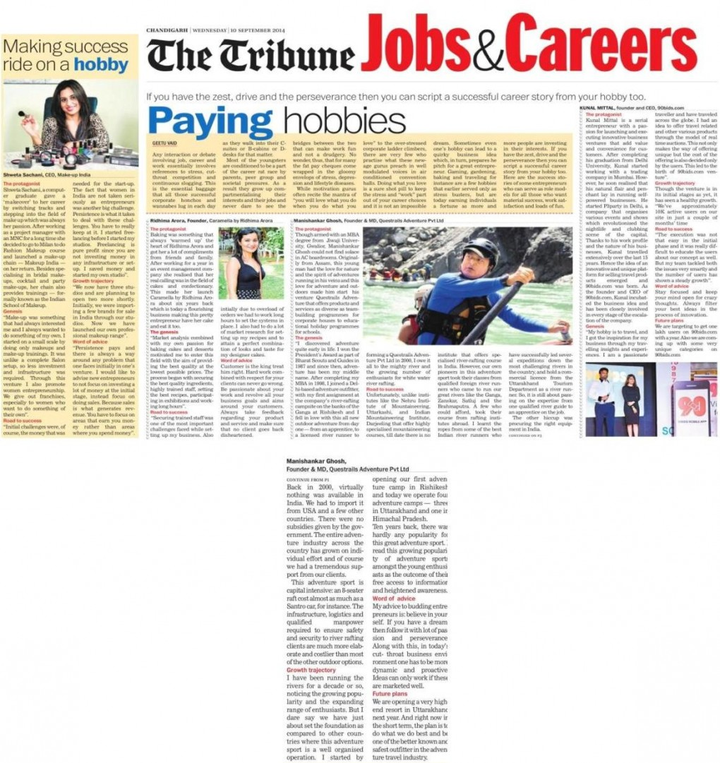 The Tribune_Jobs & Careers_Page 01 & 03_Sep 10, 2014
