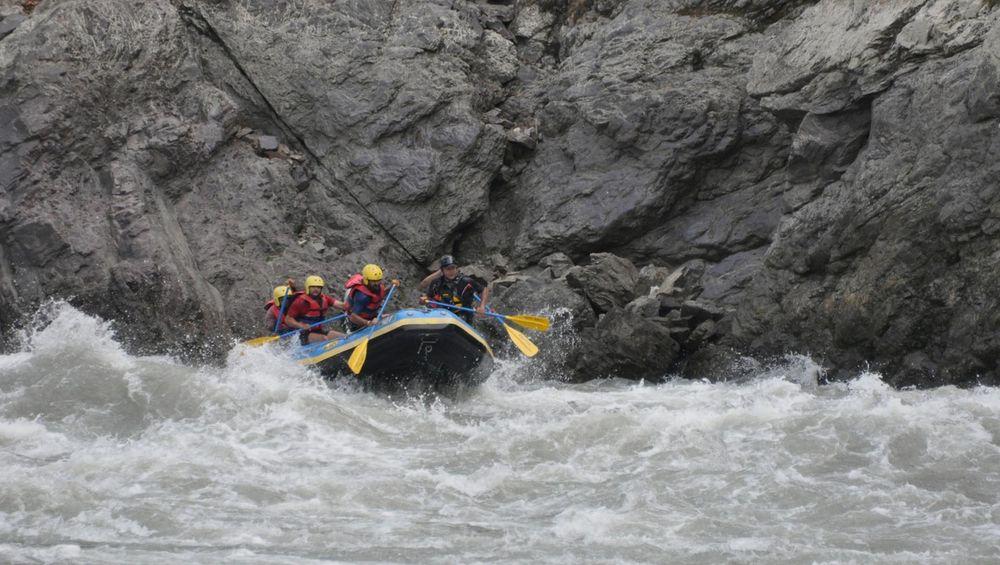 White water rafting with Camp Rapidfire, Rishikesh